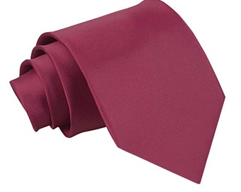 Satin Burgundy Extra Long Tie