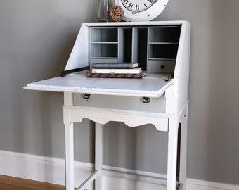 Vintage Shabby Chic Painted Bureau
