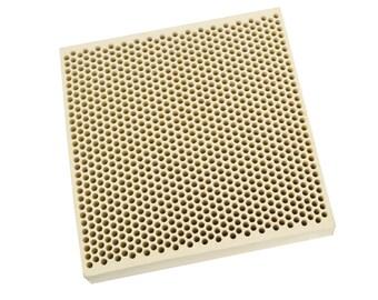 Honeycomb Ceramic Block Soldering Square 100 x 100 x 21 MM w/ 1,050 Holes (2 mm Dia.) - SOLD-0058