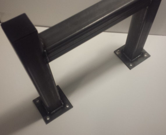 DIY Square Heavy Duty Metal Tube Table Legs Set of 2