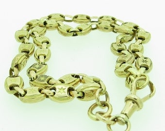 A 9ct Gold Oval Link Bracelet (SKU85)