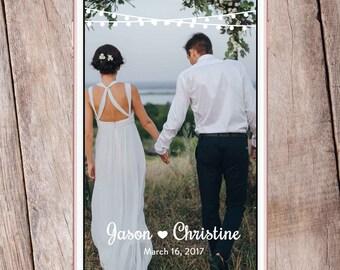 Rustic Wedding Snapchat Geofilter