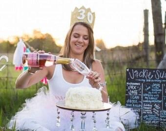 Adult Tutu Adult Cake Smash Birthday Party Bachelorette Party Photo Prop