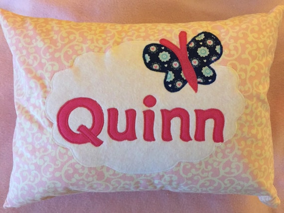 Child's personalized appliquéd pillowcover for 12 x 18 pillow