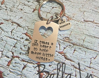 FAST SHIPPING- It takes a big heart to shape little minds, teacher Christmas gift