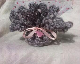 Containing dragées crochet handmade for baptism