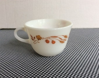 Harvest Home Pyrex Cup,Gold Design Pyrex,Kitchen Collectible,Wheat Design Dish,1980's Dish,Coffee Cup,