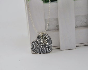 Finger Print Heart Necklace