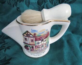 Vintage Shaving Mug with Brush, Old Coach House