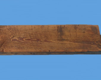 "reclaimed barn beam wood floating shelf , 27"" long , from a torn down barn 116"
