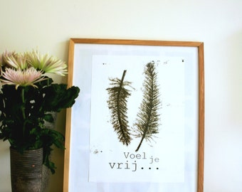 Poster A3 feel free, nature inspired home