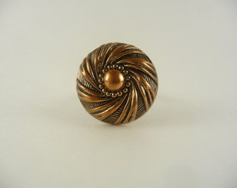 spiral button wire wrapped ring