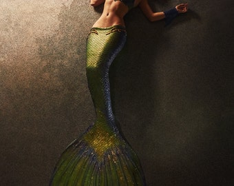 Custome made swimmable silicone mermaid tail