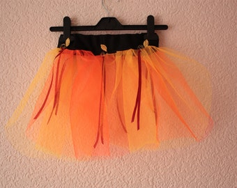 Children's Tutu Skirt - Dress Up Orange Yellow Autumn Fall Kids Fancy Dress