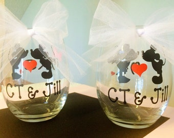 personalized mickey minnie wedding gift by dreamsiclekreations
