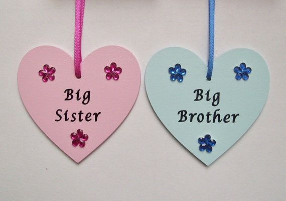Baby Gifts For Big Brother : Items similar to big sister brother gift from