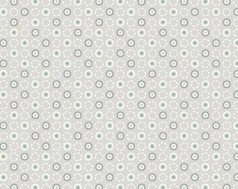 Timberland Critters Tan, Cream and Blue Dancing Dots and Circles on Grayish Taupe Background by Adorn-It - 00482A