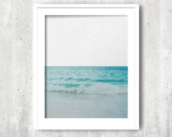 Beach Photography, Instant Download, Ocean Waves, Beach Photo, Printable Wall Art