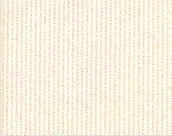SALE!! 1/2 Yard Handmade by Bonnie and Camille for Moda- 55147-13 Coral-Cream Floral Text Print