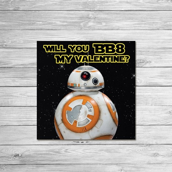 Star Wars Printable Valentines Day Cards – Print Your Own Valentines Card