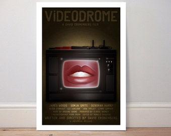 Movie poster 'Videodrome' colour print