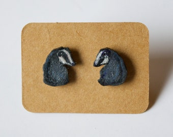 Dainty badger stud earrings - 4 pounds from every sale goes to the Badger Trust
