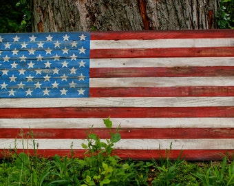 Extra Large Distressed American Flag