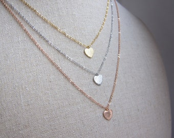 Delicate Heart Pendant Necklace- Gold Filled