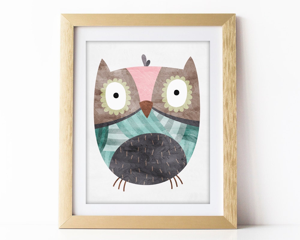 owl nursery decor owl nursery wall art print owl nursery. Black Bedroom Furniture Sets. Home Design Ideas