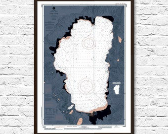 Lake Tahoe Art, Lake House Decor, Map Art, Lake Tahoe Map, Lake Tahoe California, Lake Tahoe Print, Lake Tahoe Poster