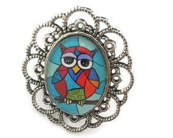 owl ring, owl. rings, owl jewellery, vintage ring, owl lover,