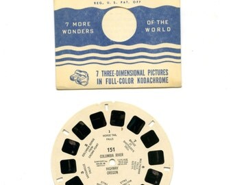 50's era View-Master reels:Condition excellent, Reel 151, Columbia River
