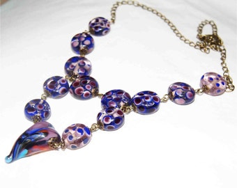 Glass beads.  Lampwork. handmade