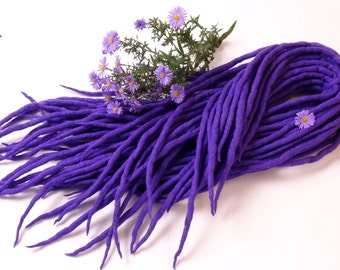 "Wool Dreadlocks Dreads "" Mountain Crocus "" DE"