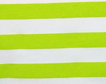 Knit Key Lime 1 inch Stripes Fabric 1/2 yard