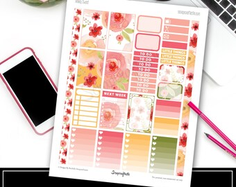 Honey Sweet Classic Happy Planner Size Printable Planner Stickers