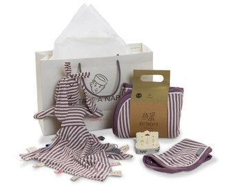 Newborn Baby Gift Baby Shower Gift Set, New Baby Girl Gift Organic Cotton Baby Gift Basket Box