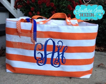 Monogram beach bag | Etsy