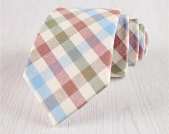 neckties for weddings.multicolor ties.plaids neckties.cotton ties.+nt231