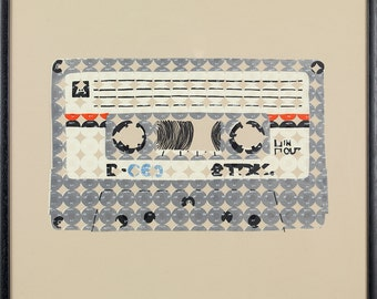 Limited Edition Cassette Screenprint