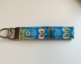 Key Fob / Key Chain / Wristlet / Bright Colors /Owls