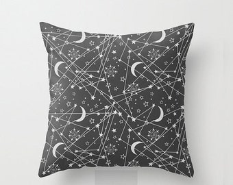 XO SALE Throw Pillow Cover, Galaxy Pillow Cover, sun moon and stars pillow cover, space throw pillow case, 18 inch. Double sided Print
