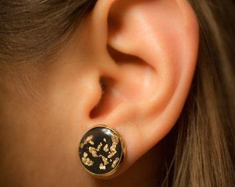Black earrings, Stud earrings, post earrings, resin earrings, Wedding earrings, Bride earrings, white earrings, turquoise earrings