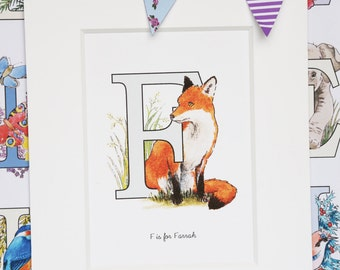 Alphabet Pictures - F : Personalised Prints