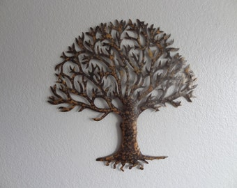 Metal Tree - Copper&Black Tree - Home Decor - Metal Art - Wall Hanging