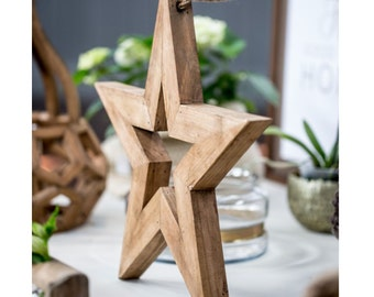 Wooden Decorative Star - W0036