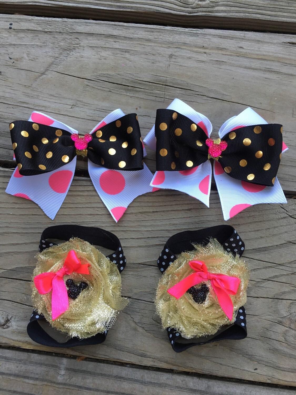 Beautiful princess minnie mouse inspired shabby flowers - Princesse minnie ...