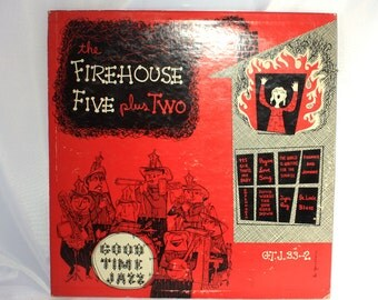 Firehouse Five, Plus Two, Good Time Jazz, Vinyl Record, Vintage, 1950s Music, Dixieland