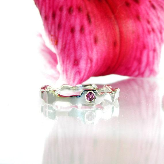 garnet silver stacking ring alternative ring promise ring. Black Bedroom Furniture Sets. Home Design Ideas