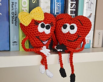 CROCHET PATTERN, Hearts, Valentine Gift, Home Decoration